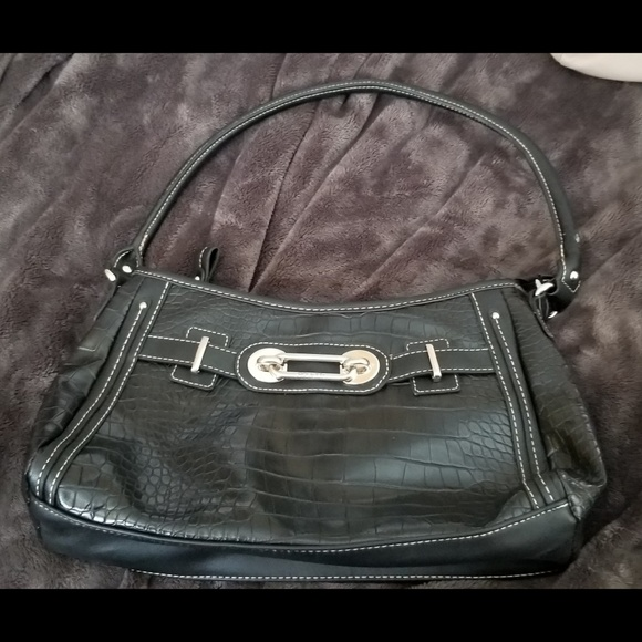 f0d79f302ba Rosetti Bags   Faux Black Alligator Vegan Leather   Poshmark